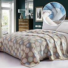 moderne minimalistische Stil Blumen/Blumen Gestreift [verdicken] Doppelschicht Polyester Sofadecken-K 200x230cm(79x91inch)