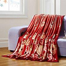 moderne minimalistische Stil Blumen/Blumen Gestreift [verdicken] Doppelschicht Polyester Sofadecken-F 120x200cm(47x79inch)120x200cm(47x79inch)