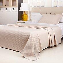 moderne minimalistische Stil Einfarbig 100% Baumwolle Sofadecken-C 180x210cm(71x83inch)