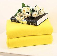 moderne minimalistische Stil Einfarbig 100% Baumwolle Sofadecken-D 150*200cm(59x79inch)