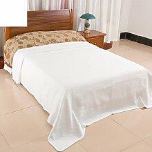 moderne minimalistische Stil Einfarbig 100% Baumwolle Sofadecken-B 240x200cm(94x79inch)