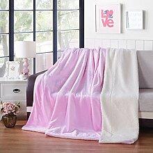 moderne minimalistische Stil Einfarbig dicker Doppelschicht Polyester Sofadecken-E 150*200cm(59x79inch)