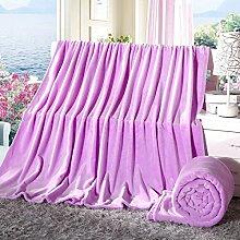 moderne minimalistische Stil Einfarbig dicker Doppelschicht Polyester Sofadecken-B 200x230cm(79x91inch)