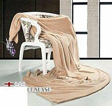 moderne minimalistische Stil Einfarbig dicker Polyester Sofadecken-C 200x230cm(79x91inch)