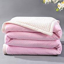 moderne minimalistische Stil Einfarbig dicker Polyester Sofadecken-D 200x230cm(79x91inch)
