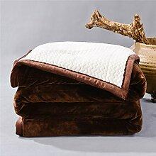 moderne minimalistische Stil Einfarbig dicker Polyester Sofadecken-E 200x230cm(79x91inch)