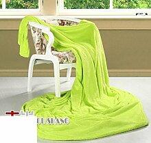 moderne minimalistische Stil Einfarbig dicker Polyester Sofadecken-G 200x230cm(79x91inch)