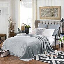 moderne minimalistische Stil Einfarbig dicker Polyester Sofadecken-F 230x250cm(91x98inch)