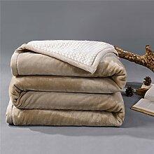 moderne minimalistische Stil Einfarbig dicker Polyester Sofadecken-F 180x200cm(71x79inch)