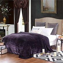 moderne minimalistische Stil Einfarbig dicker Polyester Sofadecken-E 180x200cm(71x79inch)