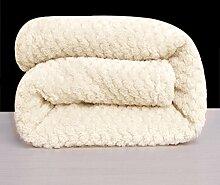 moderne minimalistische Stil Einfarbig dicker Polyester Sofadecken-B 70x140cm(28x55inch)