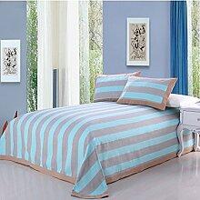 moderne minimalistische Stil Einfarbig Gestreift [verdicken] Doppelschicht Polyester Sofadecken-G 200x230cm(79x91inch)