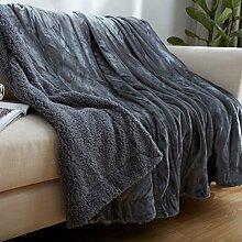 moderne minimalistische Stil Einfarbig Polyester dicker Sofadecken-B 100x120cm(39x47inch)