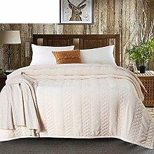 moderne minimalistische Stil Einfarbig Polyester Geometrisch Polyester Sofadecken-F 200x230cm(79x91inch)