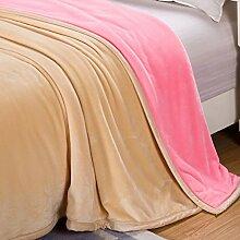 moderne minimalistische Stil Einfarbig Polyester [verdicken] Doppelschicht Sofadecken-F 150*200cm(59x79inch)