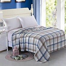moderne minimalistische Stil Einfarbig Polyester [verdicken] Doppelschicht Sofadecken-B 150*200cm(59x79inch)