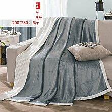 moderne minimalistische Stil Einfarbig [verdicken] Doppelschicht Polyester Sofadecken-B 150*200cm(59x79inch)