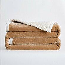 moderne minimalistische Stil Einfarbig [verdicken] Doppelschicht Polyester Sofadecken-C 180x200cm(71x79inch)