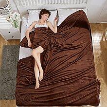 moderne minimalistische Stil Einfarbig [verdicken] Doppelschicht Polyester Sofadecken-F 200x230cm(79x91inch)