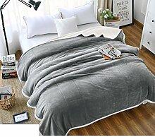moderne minimalistische Stil Einfarbig [verdicken] Doppelschicht Polyester Sofadecken-B 180x200cm(71x79inch)
