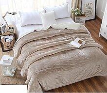 moderne minimalistische Stil Einfarbig [verdicken] Doppelschicht Polyester Sofadecken-N 180x200cm(71x79inch)