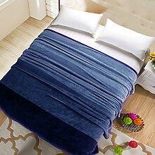 moderne minimalistische Stil Einfarbig [verdicken] Doppelschicht Polyester Sofadecken-G 200x230cm(79x91inch)