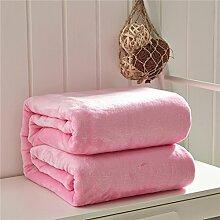 moderne minimalistische Stil Einfarbig [verdicken] Doppelschicht Polyester Sofadecken-B 230x250cm(91x98inch)