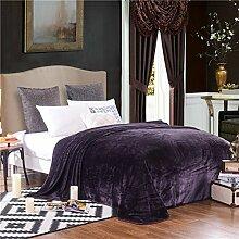 moderne minimalistische Stil Einfarbig [verdicken] Doppelschicht Polyester Sofadecken-E 230x250cm(91x98inch)