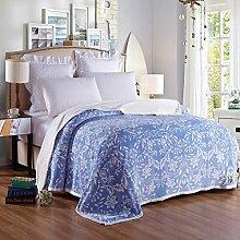 moderne minimalistische Stil Geometrisch [verdicken] Doppelschicht Polyester Sofadecken-E 180x200cm(71x79inch)