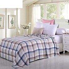 moderne minimalistische Stil Gestreift 100% Baumwolle Sofadecken-C 140x190cm(55x75inch)