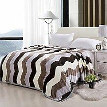 moderne minimalistische Stil Gestreift Blumen/Blumen Polyester Sofadecken-I 150*200cm(59x79inch)
