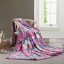 moderne minimalistische Stil Gestreift Blumen/Blumen Polyester Sofadecken-G 150*200cm(59x79inch)