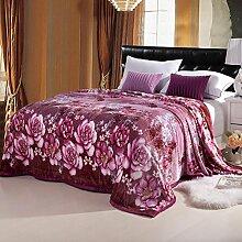 moderne minimalistische Stil Gestreift Blumen/Blumen Polyester Sofadecken-D 180x200cm(71x79inch)