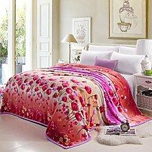 moderne minimalistische Stil Gestreift Blumen/Blumen Polyester Sofadecken-S 200x230cm(79x91inch)