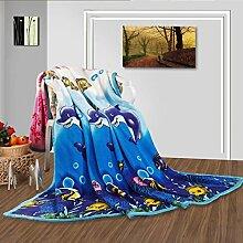 moderne minimalistische Stil Gestreift Blumen/Blumen Polyester Sofadecken-C 150*200cm(59x79inch)