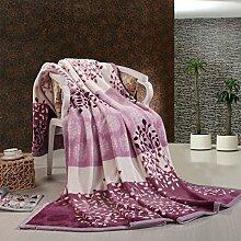 moderne minimalistische Stil Gestreift Blumen/Blumen Polyester Sofadecken-H 200x230cm(79x91inch)