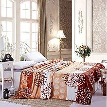 moderne minimalistische Stil Gestreift Blumen/Blumen Polyester Sofadecken-C 200x230cm(79x91inch)