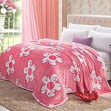 moderne minimalistische Stil Gestreift Blumen/Blumen Polyester Sofadecken-N 200x230cm(79x91inch)