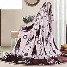 moderne minimalistische Stil Gestreift Blumen/Blumen [verdicken] Polyester Sofadecken-H 230x250cm(91x98inch)