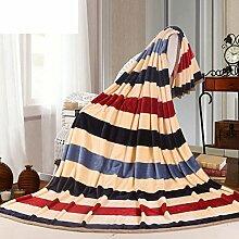 moderne minimalistische Stil Gestreift Blumen/Blumen [verdicken] Polyester Sofadecken-N 150*200cm(59x79inch)