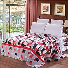 moderne minimalistische Stil Gestreift Blumen/Blumen verdicken Doppelschicht Polyester Sofadecken-K 230x250cm(91x98inch)