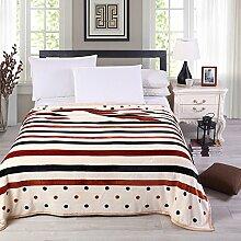 moderne minimalistische Stil Gestreift Blumen/Blumen [verdicken] Doppelschicht Polyester Sofadecken-C 200x230cm(79x91inch)