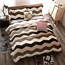 moderne minimalistische Stil Gestreift Blumen/Blumen [verdicken] Doppelschicht Polyester Sofadecken-F 200x230cm(79x91inch)