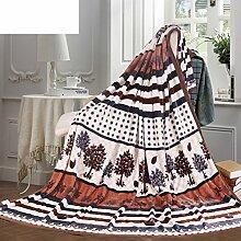 moderne minimalistische Stil Gestreift Blumen/Blumen [verdicken] Polyester Sofadecken-X 230x250cm(91x98inch)