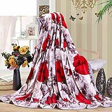 moderne minimalistische Stil Gestreift Blumen/Blumen [verdicken] Polyester Sofadecken-S 230x250cm(91x98inch)