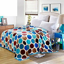 moderne minimalistische Stil Gestreift Blumen/Blumen [verdicken] Doppelschicht Polyester Sofadecken-G 200x230cm(79x91inch)