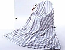 moderne minimalistische Stil Gestreift Einfarbig 100% Baumwolle Sofadecken-A 200x230cm(79x91inch)
