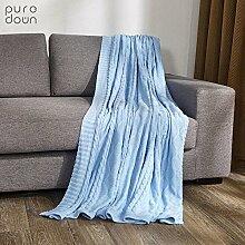 moderne minimalistische Stil [Stricken] Einfarbig 100% Baumwolle Sofadecken-C 120x180cm(47x71inch)