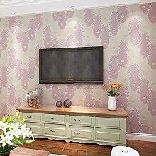 moderne minimalistische Tapeten/Feder Tapete/warm Schlafzimmer Tapeten/Wohnzimmer Wände für Wallpaper/Umweltschutz3D wallpaper/Drei dimensionale Vliestapete-C