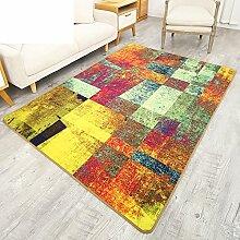 moderne minimalistische Teppiche/Wohnzimmer rechteckiger Couchtisch Sofa Schlafzimmer Teppich-A 100x160cm(39x63inch)